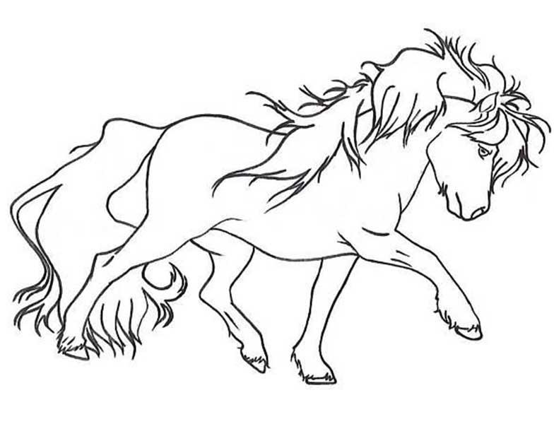 Dibujos de Caballos para Adultos【Caballos para Colorear los Niños】